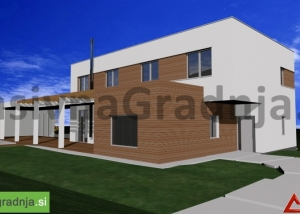 Pasivna hiša F – Izlake – Projekt (OPCIJA 5)
