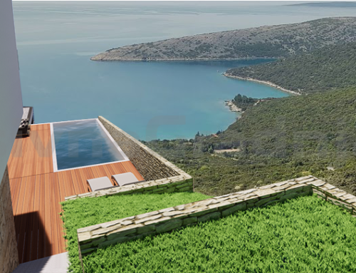Dve pasivni hiši z bazenom na otoku Cresu