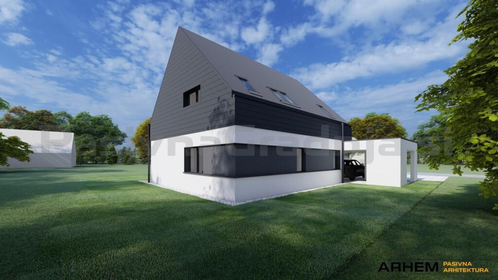 Pasivna hiša K – Braslovče - vizualizacija