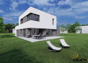 Pasivna hiša Ju - Tacen - vizualizacija