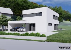 Pasivna hiša Bj - Škofljica - ravna streha - 1