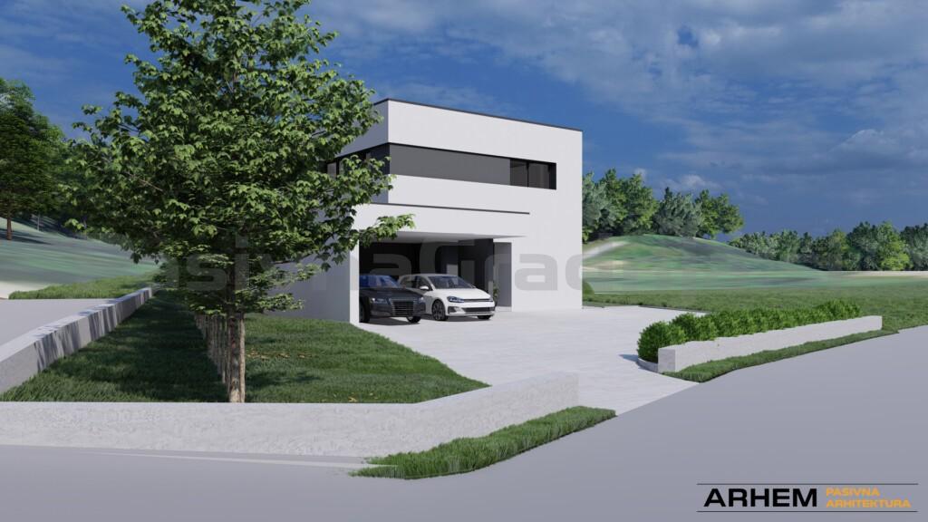 Pasivna hiša Bj - Škofljica - ravna streha - 2
