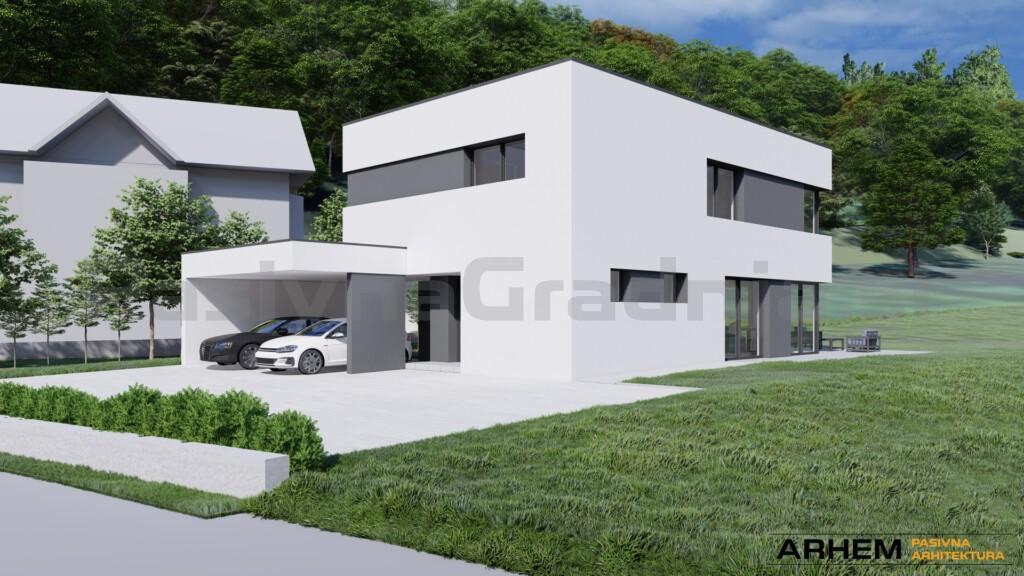 Pasivna hiša Bj - Škofljica - ravna streha - 3