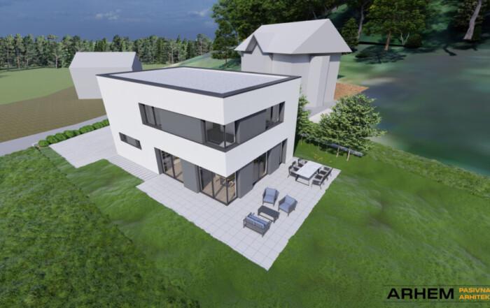 Pasivna hiša Bj - Škofljica - ravna streha - 8