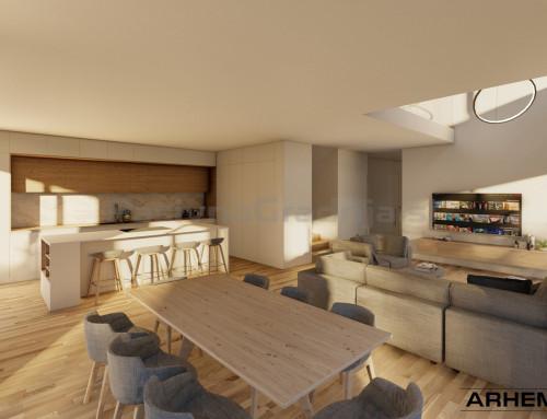 Pasivna hiša A&R – Tabor – projekt interierja